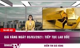 Giá vàng hôm nay 5/3/2021: Tiếp tục lao dốc